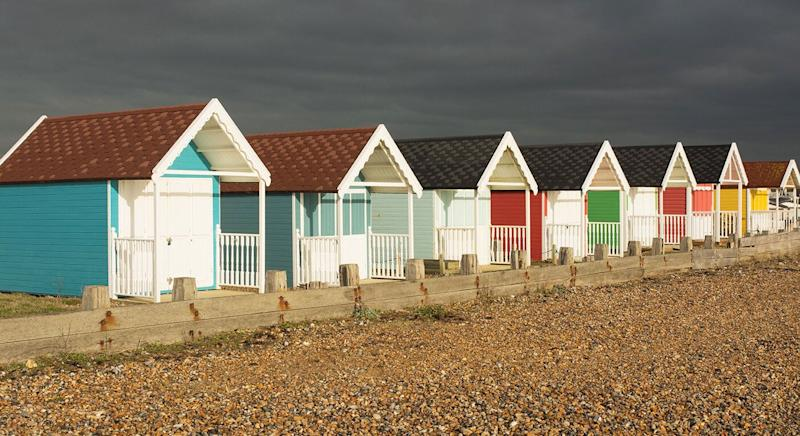 A seaside view of Lancing Beach. [Photo: Getty]