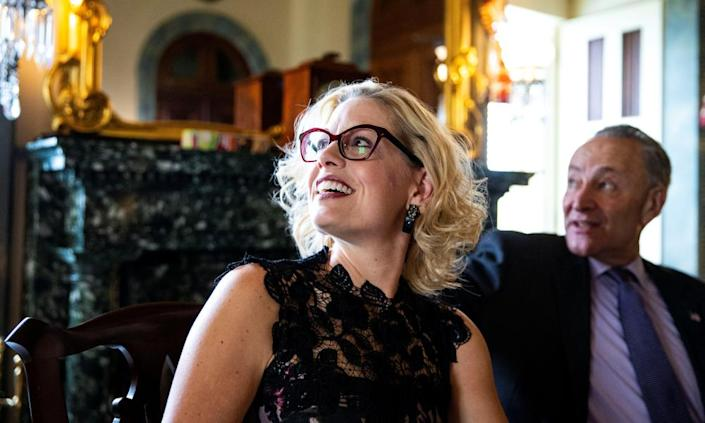 The newly elected Democratic Senator Kyrsten Sinema in the US Capitol, in Washington on 13 November 2018.