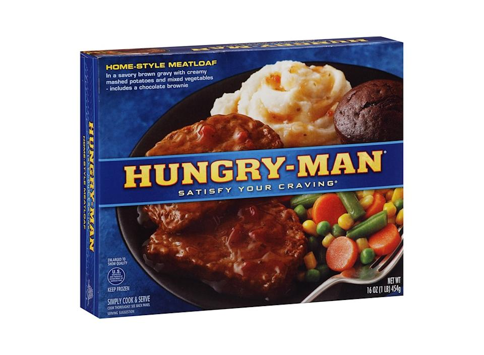 hungry man homestyle meatloaf frozen dinner