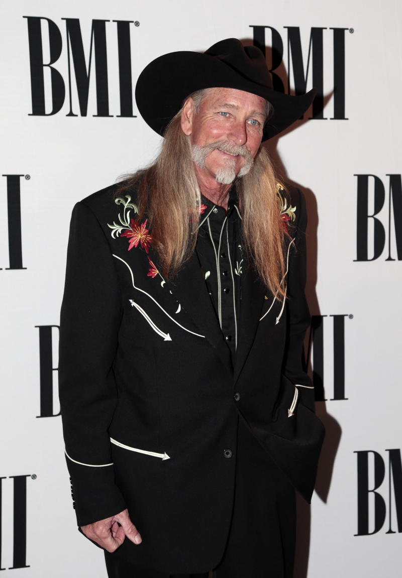 Dean Dillon arrives for the BMI Country Awards on Tuesday, Nov. 5, 2013, in Nashville, Tenn. Dillion is being honored as a BMI Icon at the show. (AP Photo/Mark Humphrey)