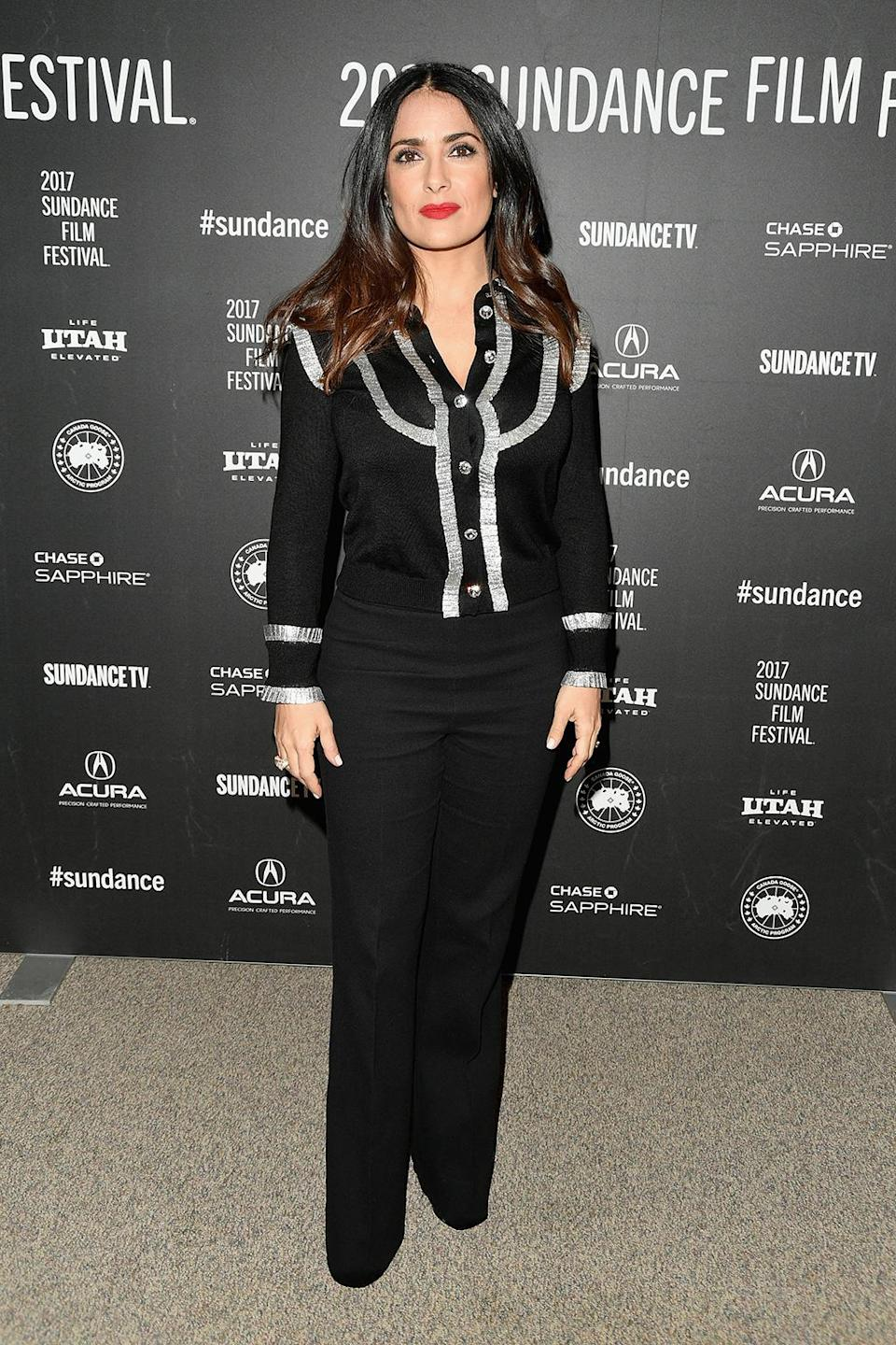 <p>The star arrives for 'Beatriz at Dinner.' (Photo: George Pimentel/Getty Images) </p>