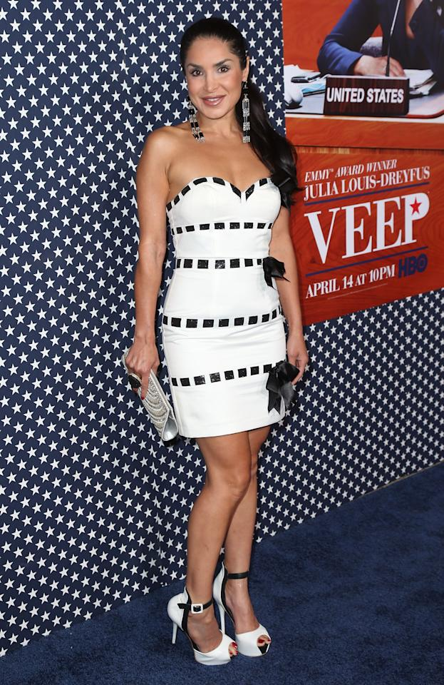 "HOLLYWOOD, CA - APRIL 09:  Actress Saye Yabandeh attends the premiere of HBO's ""VEEP"" Season 2 at Paramount Studios on April 9, 2013 in Hollywood, California.  (Photo by David Livingston/Getty Images)"