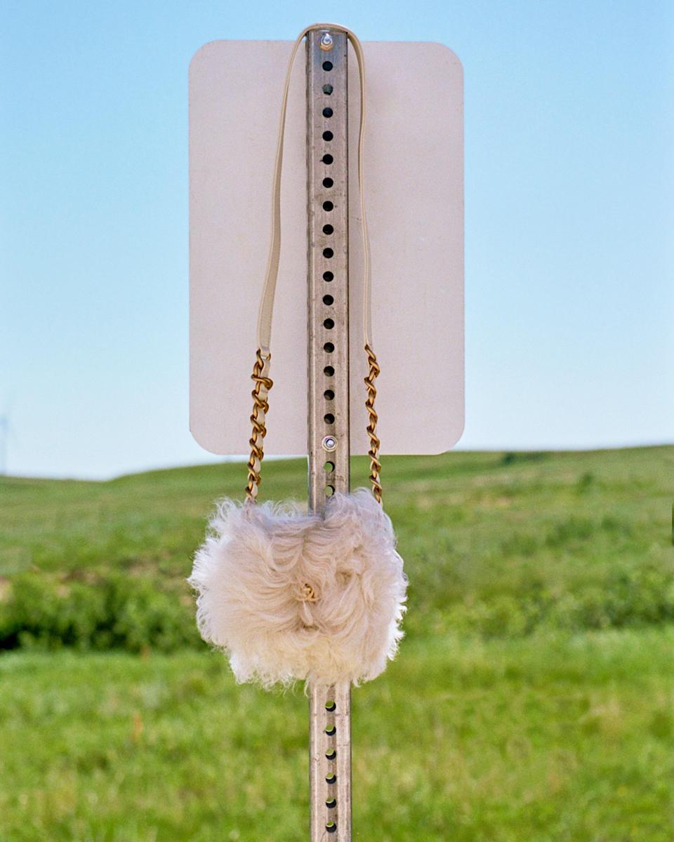 The road less traveled After buying a timeless Chanel bag, why not go for a bag that is a little more flared, or in this case, fluffy?  Buy now.