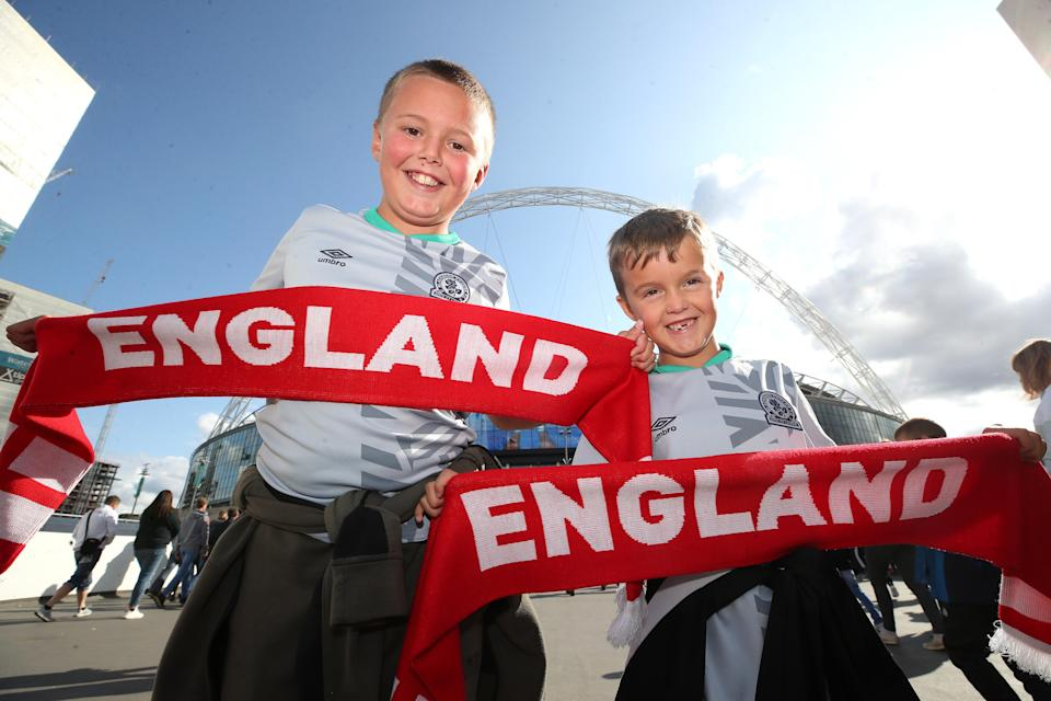Young England fans (PA Archive)