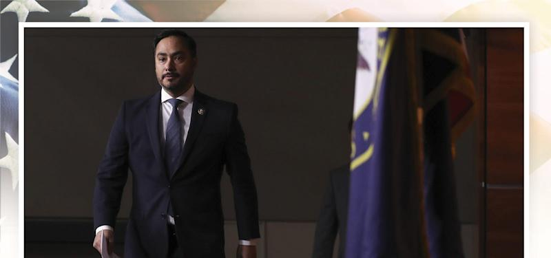 Congressional Hispanic Caucus chairman Rep. Joaquin Castro, D-TX, arrives for a news conference to discuss the Supreme Court case involving Deferred Action for Childhood Arrivals on Nov. 12, 2019.