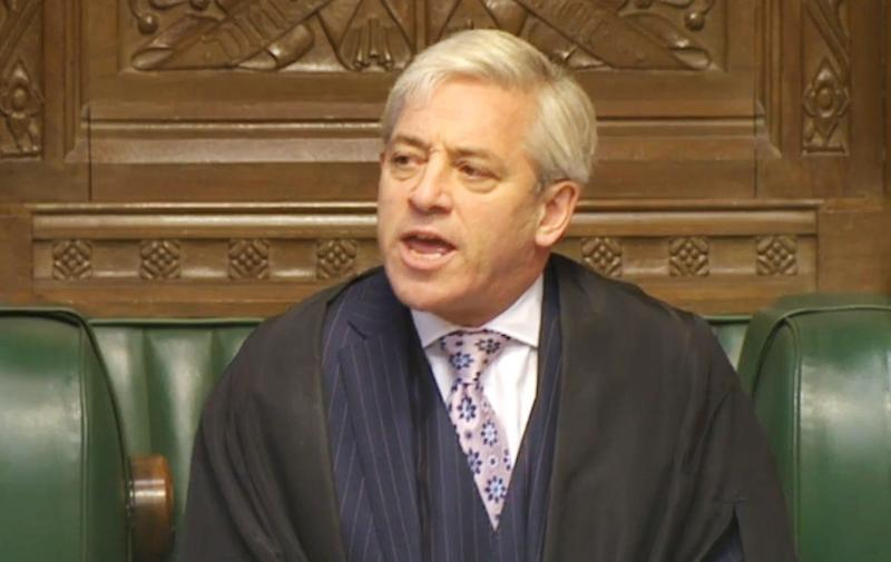 Commons Speaker John Bercow said he's unwilling to invite U.S. President Donald Trump to speak before the United Kingdom's Parliament. (PA Archive/PA Images)