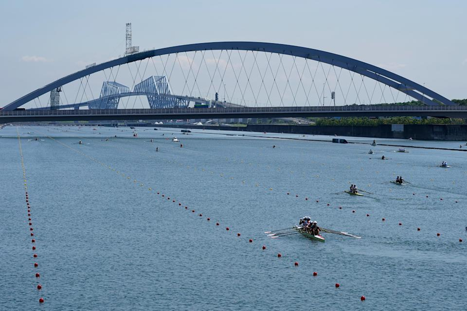 Racing got under way at the Sea Forest Waterway on Friday (Darron Cummings/AP) (AP)