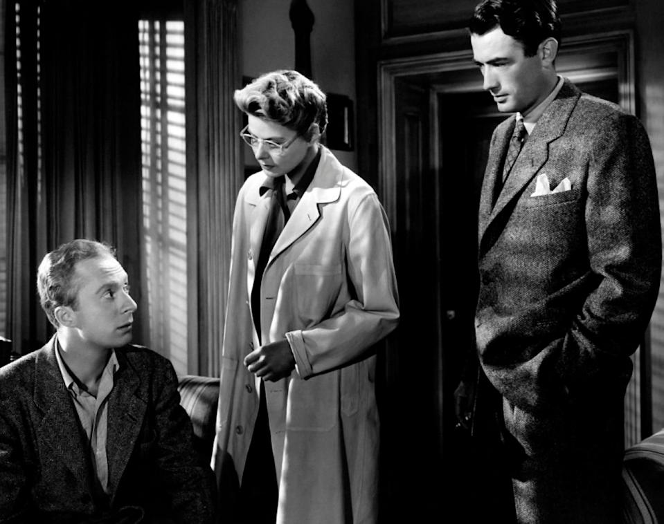 Norman Lloyd (left) with Ingrid Bergman and Gregory Peck in Spellbound - Collection Christophel / ArenaPAL