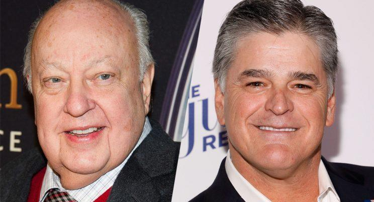 """Roger Ailes and Sean Hannity (Photos: Charles Sykes/Invision/AP; Taylor Hill/FilmMagic/Getty)""""Today America lost one of its great patriotic warriors. Roger Ailes. For Decades RA's has impacted American politics and media,"""" he wrote. """"He has dramatically and forever changed the political and the media landscape singlehandedly for the better."""""""