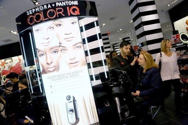 Sephora customers get makeup applied at the Beauty Studio in Sephora Brooklyn. (Photo: Getty Images)