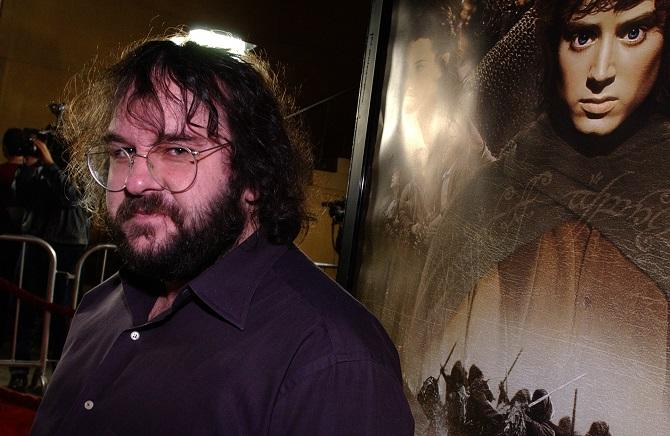 New Zealand director/writer/producer Peter Jackson arrives at the premiere of his film