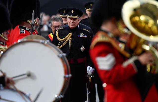 It was his first royal overseas visit since the Epstein scandal broke (Picture: Getty)