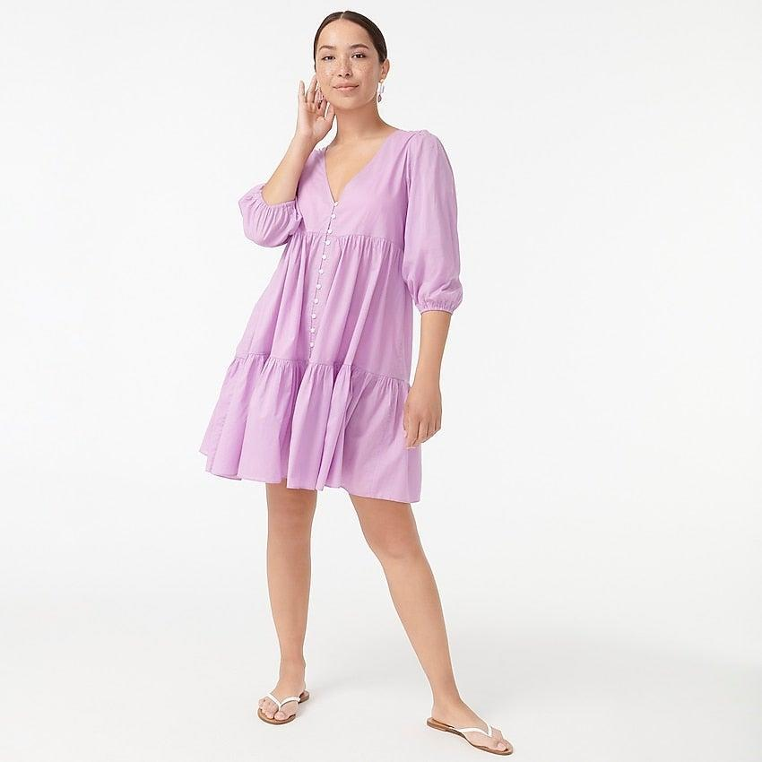 """<br><br><strong>J.Crew</strong> Button-front beach dress, $, available at <a href=""""https://go.skimresources.com/?id=30283X879131&url=https%3A%2F%2Fwww.jcrew.com%2Fp%2Fwomens%2Fcategories%2Fclothing%2Fdresses-and-jumpsuits%2Fbutton-front-beach-dress%2FAX975%3Fdisplay%3Dsale%26fit%3DClassic%26isFromSale%3Dtrue%26color_name%3Dsweet-violet%26colorProductCode%3DAX975"""" rel=""""nofollow noopener"""" target=""""_blank"""" data-ylk=""""slk:J. Crew"""" class=""""link rapid-noclick-resp"""">J. Crew</a>"""