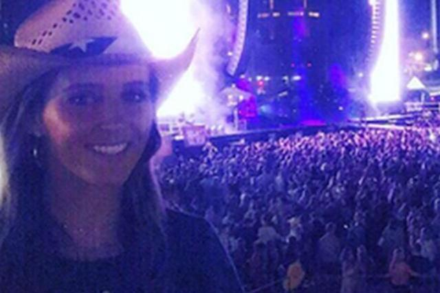 Laura Robson at the concert prior to the shooting