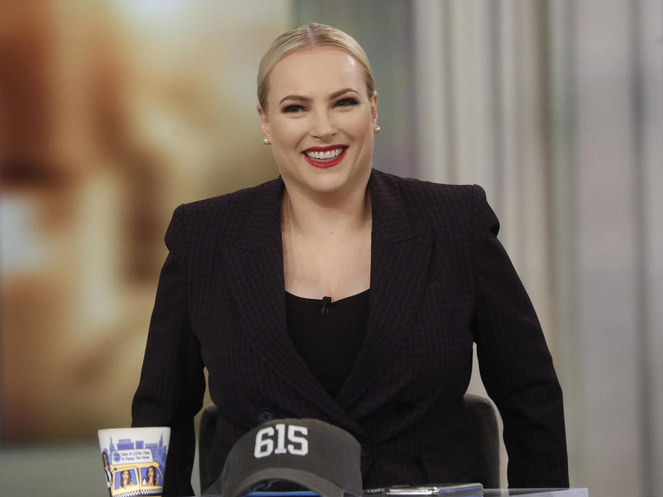 Meghan McCain shared the first photos of daughter Liberty Sage upon her return to The View. (Photo: Lou Rocco/ABC via Getty Images)MEGHAN MCCAIN