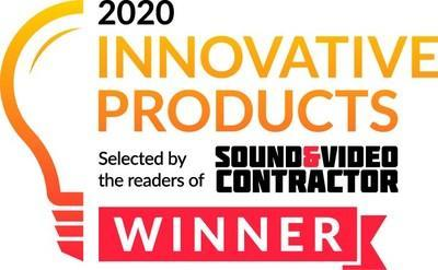 ClearOne's new BMA 360 Beamforming Microphone Array Ceiling Tile was named a 2020 Innovation Product Award winner
