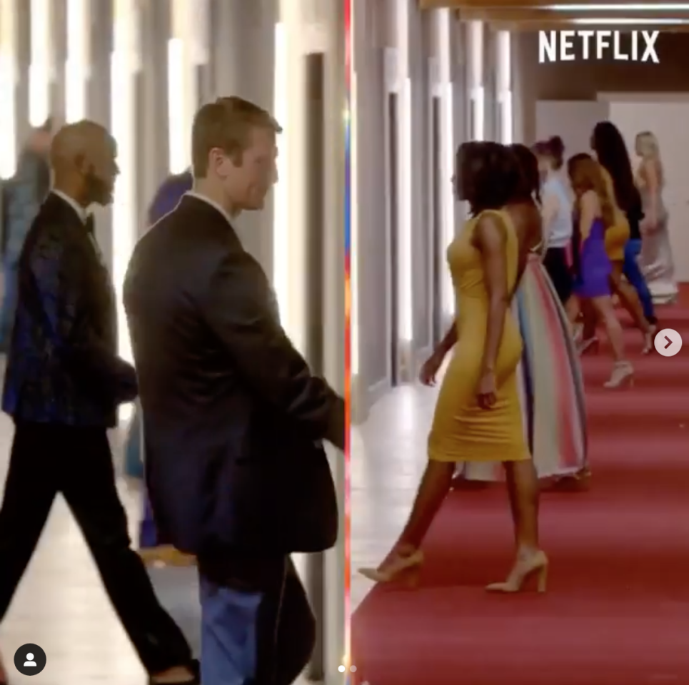 <p>The biggest rule of the show is that the cast members can't see who they're dating. How does this work? The creators designed pods that separate the men and women by glowing walls.</p>