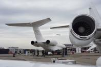 FILE PHOTO: Bombardier Global 7500 business jet is seen at the Asian Business Aviation Conference and Exhibition (ABACE) in Shanghai