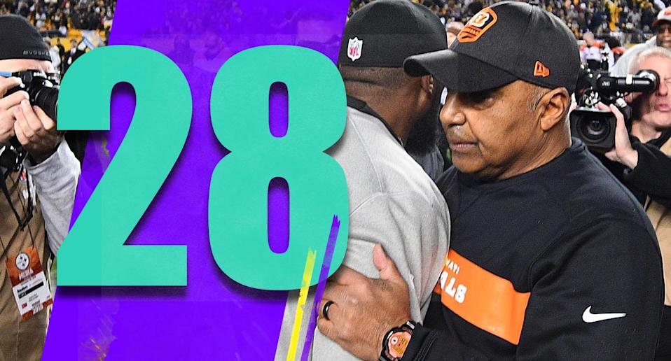 <p>Marvin Lewis is finally out and unfortunately he became a punch line for his playoff record. And yes, 0-7 in the playoffs is unfortunate. But in the big picture, Lewis took over a job that was beyond toxic and made the Bengals respectable. (Marvin Lewis) </p>