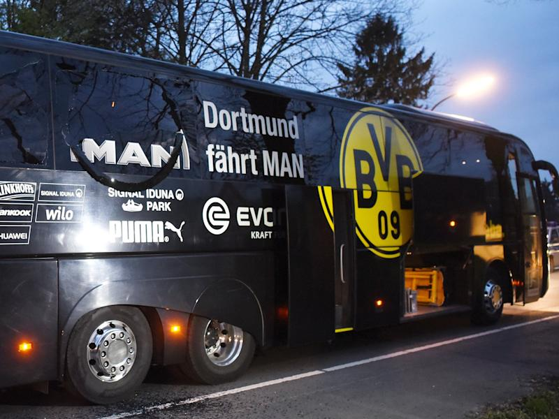 Dortmund's bus was attacked upon leaving their team hotel on Tuesday: Getty