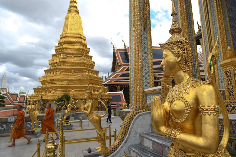 A view from the inside of the Grand Palace complex in Bangkok. On Thursday, June 07, 2018, in Bangkok, Thailand. (Photo by Artur Widak/NurPhoto via Getty Images)