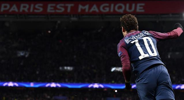 """<span class=""""element-image__caption"""">Neymar in Paris.</span> <span class=""""element-image__credit"""">Photograph: Franck Fife/AFP/Getty Images</span>"""