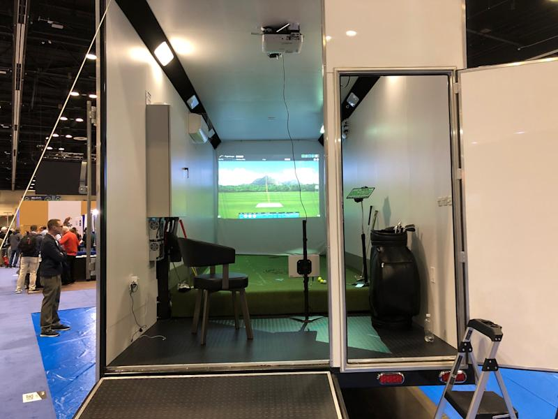 The inside of the unit, unveiled to the public for the first time this week at the PGA Merchandise Show.