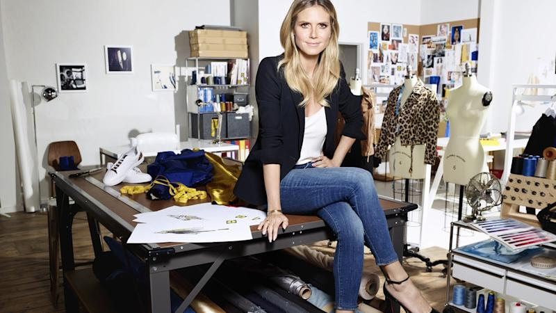 Heidi Klum zeigt Lidl-Kollektion während der New York Fashion Week