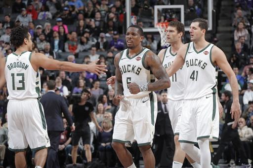 SACRAMENTO, CA - FEBRUARY 27: Eric Bledsoe #6 of the Milwaukee Bucks reacts against the Sacramento Kings on February 27, 2019 at Golden 1 Center in Sacramento, California. (Photo by Rocky Widner/NBAE via Getty Images)