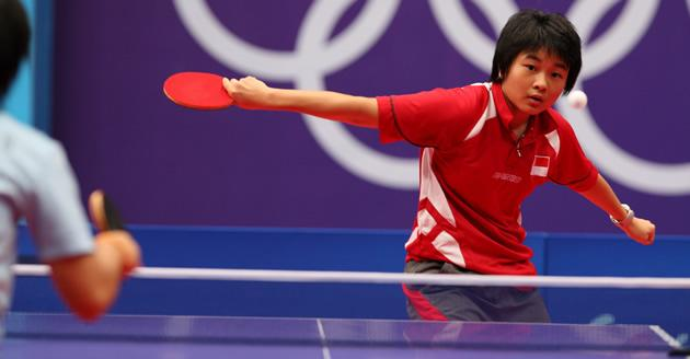 Isabelle Li playing at the Youth Olympic Games. (Photo courtesy of SSC)