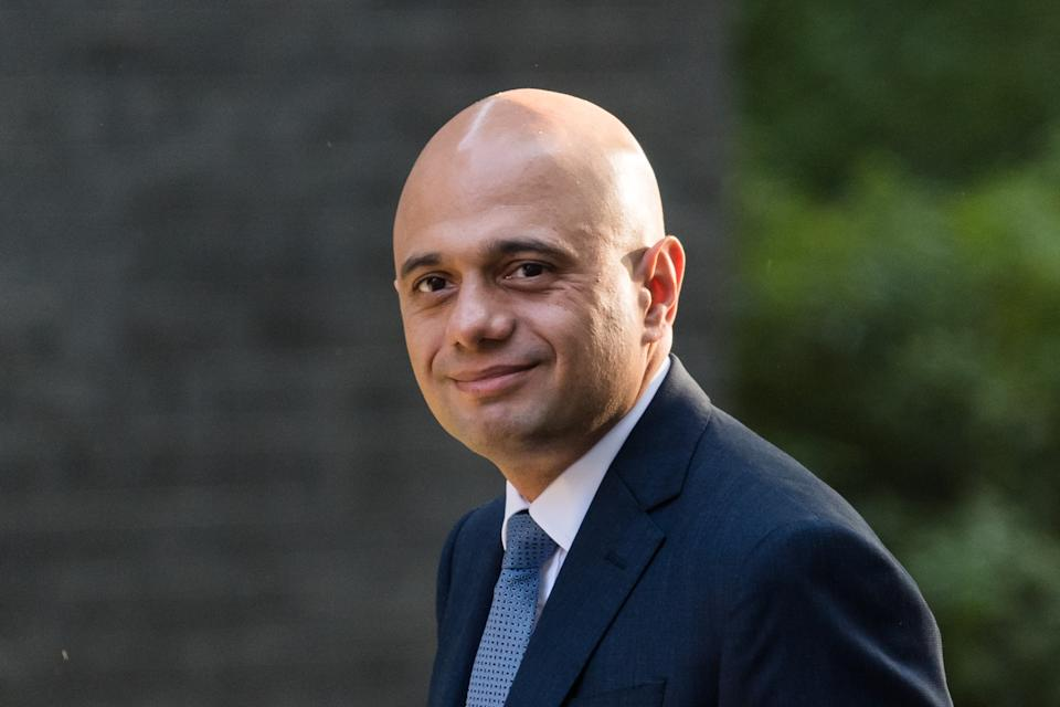 LONDON, UNITED KINGDOM - SEPTEMBER 07, 2021: Secretary of State for Health and Social Care Sajid Javid arrives in Downing Street in central London to attend the first in-person Cabinet meeting this year following the return of Parliament after summer recess on September 07, 2021 in London, England. (Photo credit should read Wiktor Szymanowicz/Barcroft Media via Getty Images)