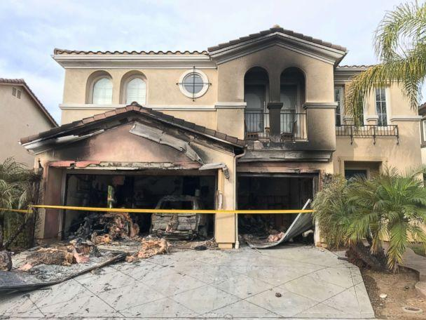 PHOTO: Laura Ohme's San Diego home was destroyed by a fire after her 2014 BMW X5 ignited while she says it was sitting parked and turned off in her garage. (Robin Bisarya)
