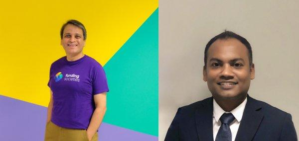 Dheeraj Chowdhry, CEO Singapore of Funding Societies and Edmund Louis Nathan, Group CEO of SGeBIZ