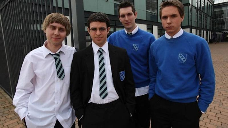 Simon and his Inbetweeners co-stars (Photo: Channel 4)