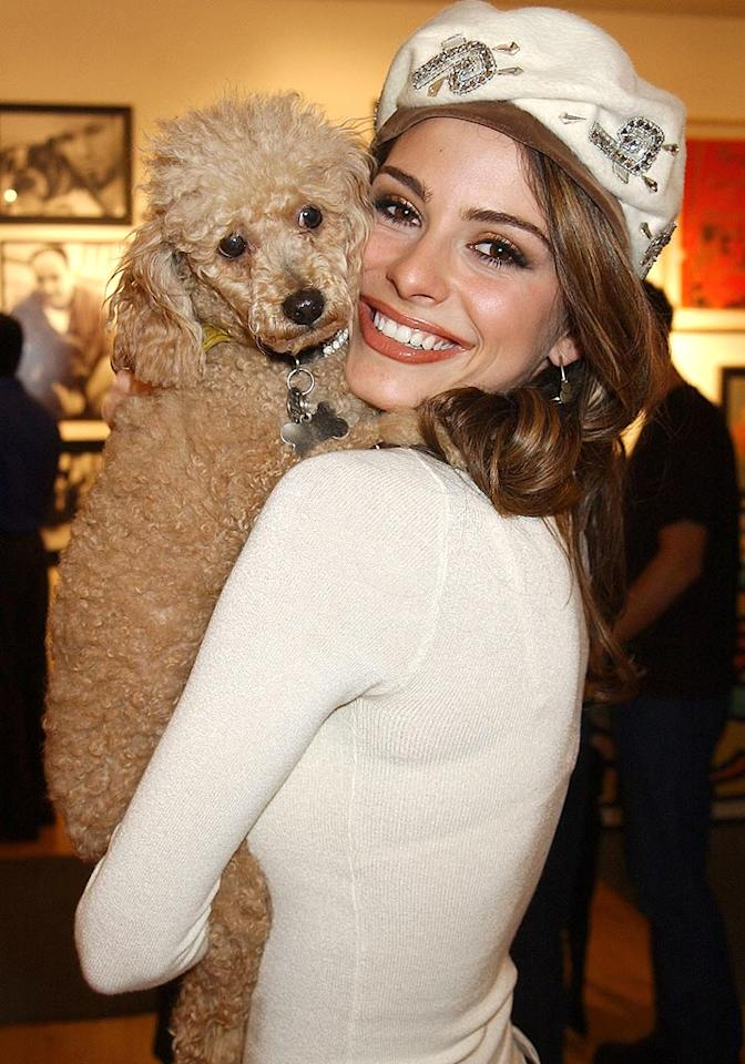 "Maria Menounos and her dog Noelle. Gregg DeGuire/<a href=""http://www.wireimage.com"" target=""new"">WireImage.com</a> - December 4, 2002"