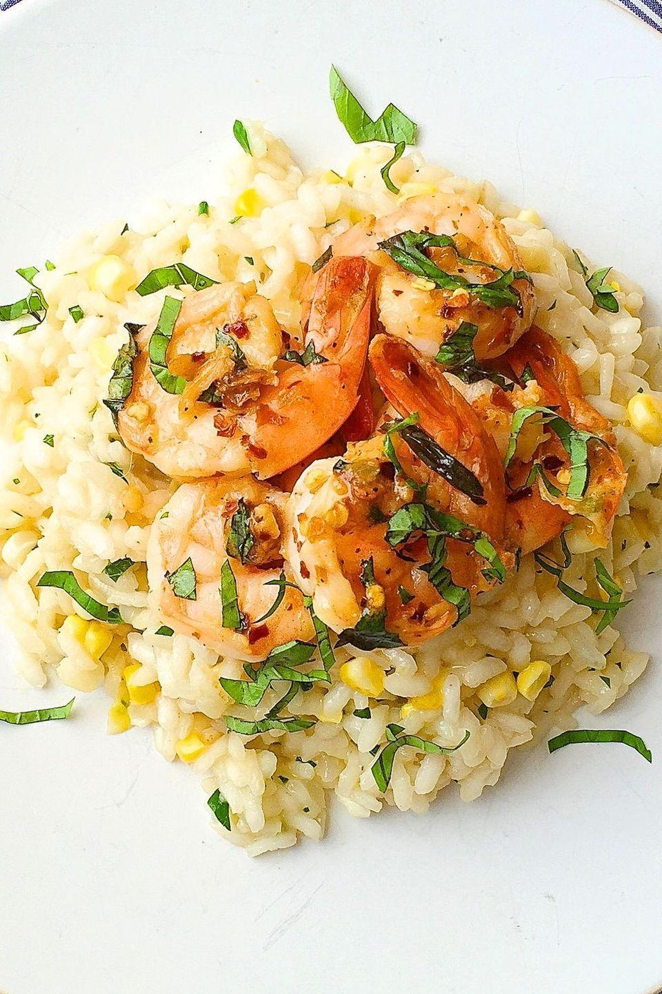 """<p>It's the creamy, dreamy dish your winter nights need.<br><br>Get the recipe from <a href=""""https://www.delish.com/cooking/recipe-ideas/recipes/a43431/sweet-corn-risotto-sauteed-shrimp-recipe/"""" rel=""""nofollow noopener"""" target=""""_blank"""" data-ylk=""""slk:Delish"""" class=""""link rapid-noclick-resp"""">Delish</a>.</p>"""