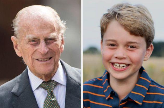 The late Duke of Edinburgh and his great-grandson Prince George, who turns 8 on July 22 (Photo: Mark Cuthbert via Getty Images / Duchess of Cambridge / PA)