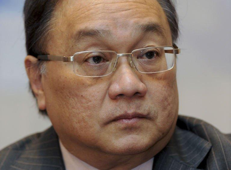 Tycoon Manny Pangilinan attends a forum with the Foreign Correspondents Association of the Philippines, January 17, 2012