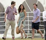 <p>Heading to the Chakravarty Cup polo match, where Prince William and Prince Harry played, at the Beaufort Polo Club in Tetbury, England. </p>