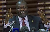 Riek Machar, a former rebel leader turned South Sudan's deputy president who was fired, failed to appear in Juba as expected on Monday or Tuesday (AFP Photo/Isaac Kasamani)