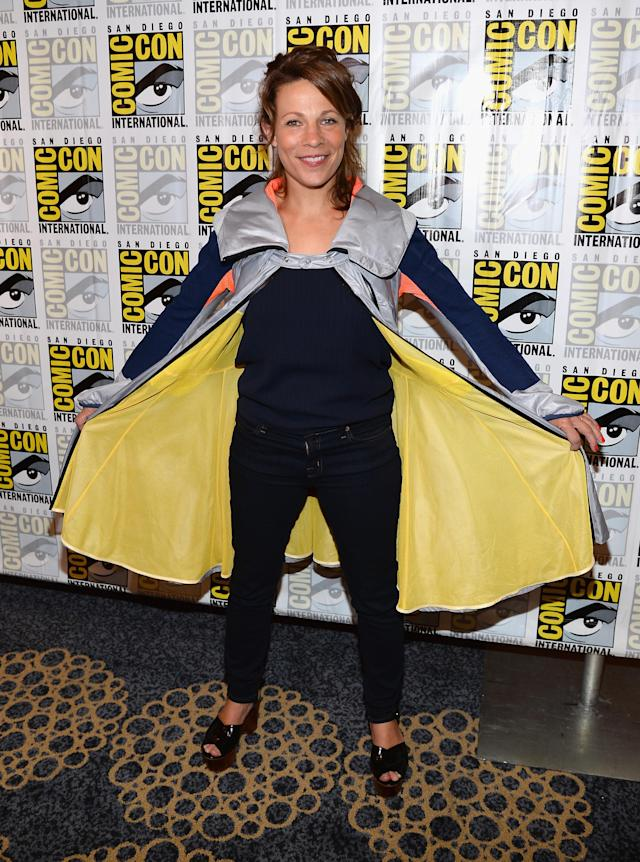 "Lili Taylor attends the ""Almost Human"" Press Room during Comic-Con International 2013 at Hilton San Diego Bayfront Hotel on July 19, 2013 in San Diego, California."