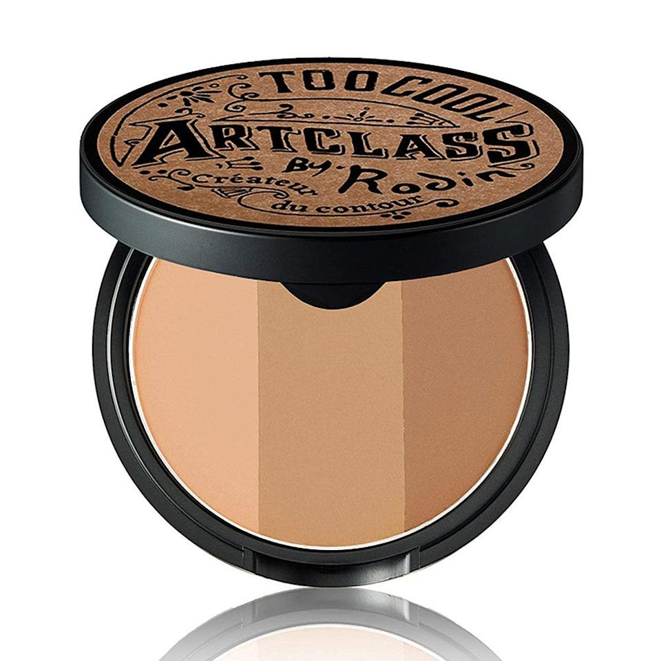 "If your contouring shade changes depending on the season, Too Cool for School's ArtClass by Rodin Shading has you covered. This slim compact contains not just one, but three different shades (Nudy Beige, Peanut Brown, and Cinnamon Brown) that effortlessly <a href=""https://www.allure.com/story/how-to-apply-bronzer?mbid=synd_yahoo_rss"" rel=""nofollow noopener"" target=""_blank"" data-ylk=""slk:define your cheekbones"" class=""link rapid-noclick-resp"">define your cheekbones</a>, jawline, nose, and more — leaving behind a soft matte finish. You can also mix different shades together to get a customized dose of warmth. $26, Amazon. <a href=""https://www.amazon.com/School-Roddin-Blush-0-335-Ounce/dp/B01M345Z4K"" rel=""nofollow noopener"" target=""_blank"" data-ylk=""slk:Get it now!"" class=""link rapid-noclick-resp"">Get it now!</a>"