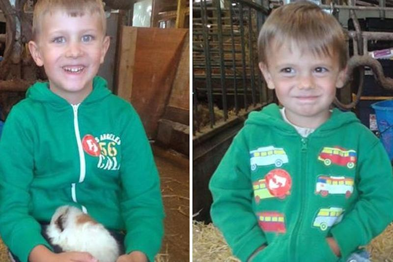 Louis Madge (left) and Dylan Madge, who are missing along with their mother Samantha Baldwin: PA