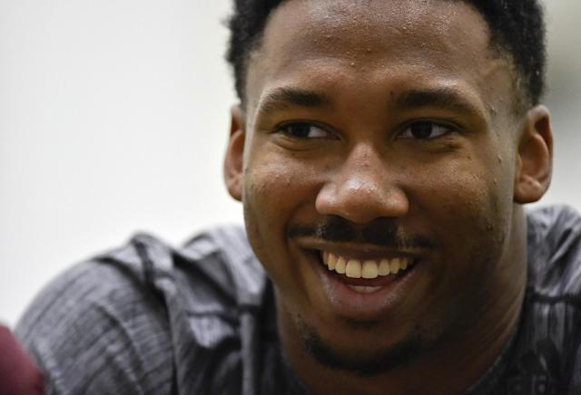 Texas A&M's Myles Garrett has the chance to be another Julius Peppers-type defender. (AP)