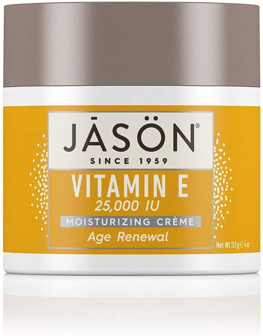 """<h3>JASON Age Renewal Vitamin E Moisturizing Crème</h3><br><strong>Jess</strong><br><br>""""I bought this product last week and can already see an improvement in the tone of my skin. It doesn't contain shimmer or anything like that, but it makes my skin glow. I haven't worn foundation since I bought it. I don't have many skin concerns, but dullness is definitely one of them — This product completely takes that away. I've tried everything, from drugstore to high-end and natural products. This is my favorite skin product, ever.""""<br><br><strong>Jāsön</strong> Age Renewal Vitamin E Moisturizing Crème, $, available at <a href=""""https://amzn.to/30xEBUi"""" rel=""""nofollow noopener"""" target=""""_blank"""" data-ylk=""""slk:Amazon"""" class=""""link rapid-noclick-resp"""">Amazon</a>"""