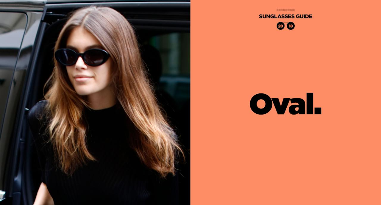 "<p>Model Kaia Gerber brought back <a rel=""nofollow"" href=""https://www.google.com/search?q=kurt+cobain+oval+sunglasses&tbm=isch&source=iu&ictx=1&fir=W_-TvH2d5ppSRM%253A%252CxvEP8cxQGI4c3M%252C_&usg=__UvBs0Pl47x2qmOz9K9u1D8yMfZ4%3D&sa=X&ved=0ahUKEwi2-Ni6wPTbAhVms1kKHUmXANsQ9QEIfjAA#imgrc=EI6ca2g_7qELeM:"">Kurt Cobain's classic oval-</a>style sunglasses, but in jet black, while out in Paris. (Photo: Getty Images; art: Quinn Lemmers for Yahoo Lifestyle) </p>"