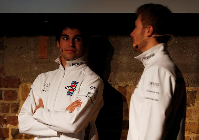 F1 Formula One - Williams Formula One Launch - London, Britain - February 15, 2018 Williams Drivers Lance Stroll and Sergey Sirotkin during the launch Action Images via Reuters/Paul Childs