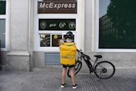 <p>As of 2018, McDonald's offered delivery in 13,000 of its restaurants worldwide—making getting your favorite double cheese burger with fries at any time of day easier than ever.</p>