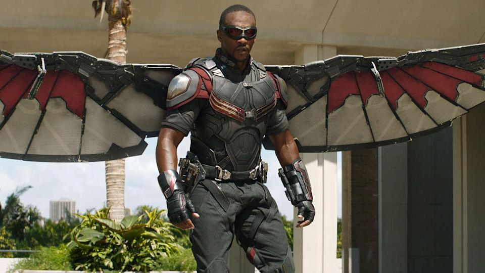 """<p> The Falcon and the Winter Soldier is among the first of the new Marvel TV shows debuting on Disney Plus, but we're not sure exactly when. Previously, there was a 'Fall 2020' release but it's now got an ambiguous 2021 release window. </p> <p> What we <em>do </em>now have is the first look at the series, thanks to a Super Bowl Marvel spot. Take a look at the trailer now, which also shows off a very quick rear-end-focused look at U.S. Agent, played by Wyatt Russell. That's not America's A**. </p> <p> Yep, as the name – and trailer – may have hinted at: Anthony Mackie and Sebastan Stan are back as Falcon and Bucky 'Winter Soldier' Barnes respectively. They'll be joined by the aforementioned Russell, as well as a returning Baron Zemo (Daniel Bruhl). Further filling out the cast is another familiar face: Emily VanCamp is back as Sharon Carter. </p> <p> """"I think it's time for Bucky to go out there and have an identity outside of the circumstances that we've met him through,"""" Stan said at an unnamed comic convention (as reported by Comicbook.com), while Mackie said at SDCC that he wants to find out """"what makes The Winter Soldier tick… and what ticks him off."""" Whatever happens, if the show echoes the espionage-heavy tone of Captain America: The Winter Soldier, they won't have any complaints from us. </p> <p> Those looking forward to Cap's new look will also be pleased to know that set photos have revealed both Sam Wilson's suit and a returning villain, Georges St-Pierre's Batroc. </p>"""
