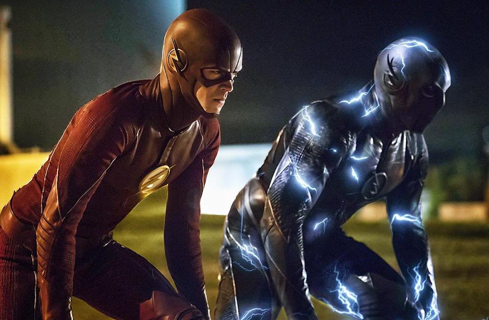 """<p><b>This Season's Theme: </b> """"Family,"""" says executive producer Aaron Helbing. """"What we're exploring is the balance of [Barry's] work family and his nuclear family."""" Which would be a generic topic for any other show – but considering how much his nuclear family fluctuates (gain a dad from prison, lose a dad to Zoom, gain a dad from Earth-2…), that gets to be very tricky very quickly. <br><br><b>Where We Left Off: </b> Barry revisited the past again, only this time, he saved his mother from Reverse Flash. <br><br><b>Coming Up: </b> Saving his mother precipitates the events of Flashpoint – where the show will draw on the comic book storyline of the same name. Like Earth-2, we'll see alternate versions of all the characters and, though we'll only be in that universe for a few episodes, Helbing says, """"the impact of Flashpoint and of the consequences of Barry's action will definitely play out throughout the season."""" <br><br><b>The Super Musical: </b> Not just one, but <i>two</i> crossover musical episodes between <i>The Flash</i> and <i>Supergirl</i> are in the works for this season. Executive producer Greg Berlanti is fond of casting Broadway stars on his shows and fans have been clamoring for this from both shows since their launch. <i>– RC</i> <br><br>(Credit: Katie Yu/The CW)</p>"""